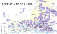Tourist Map of Lhasa