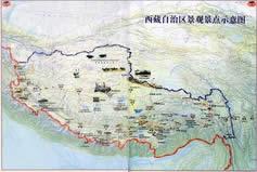 Relief Map of Tibet