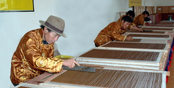 Making the Tibetan joss sticks