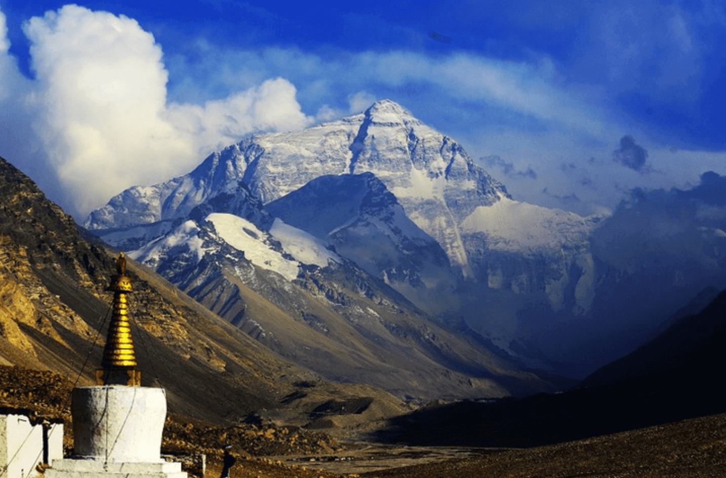 A nearby-view of Everest