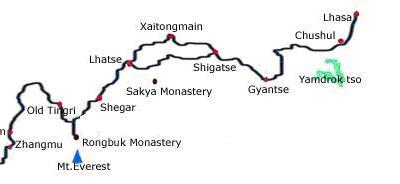 8 Days Group Tour Route